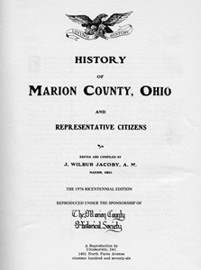 History of Marion County, Ohio and Representative Citizens